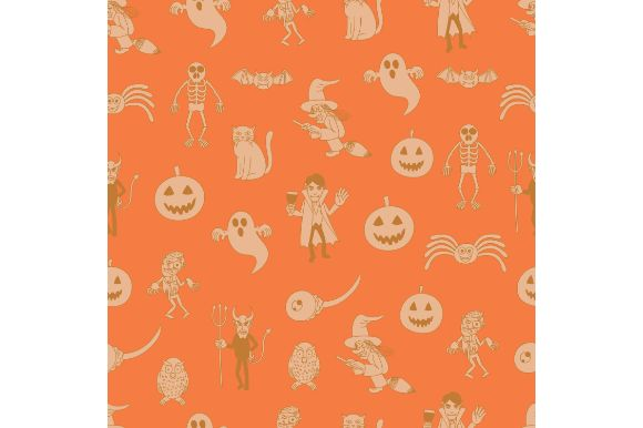 Download Free Halloween Cartoon Characters Graphic By Firdausm601 Creative for Cricut Explore, Silhouette and other cutting machines.