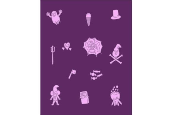 Download Free Halloween Cute Doodle Wallpaper Graphic By Firdausm601 for Cricut Explore, Silhouette and other cutting machines.