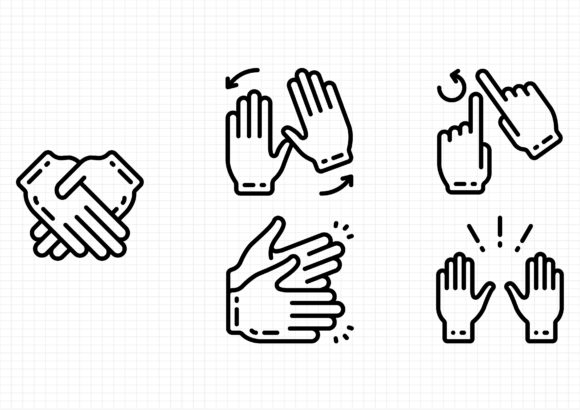 Hands Graphic Icons By beryladamayu