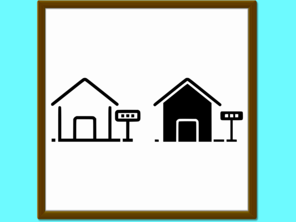 Home For Rent Line And Glyph Icon Graphic By Anrasoft Creative