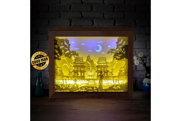 Download Free Hue Vietnam 3d Paper Cutting Light Box Graphic By for Cricut Explore, Silhouette and other cutting machines.
