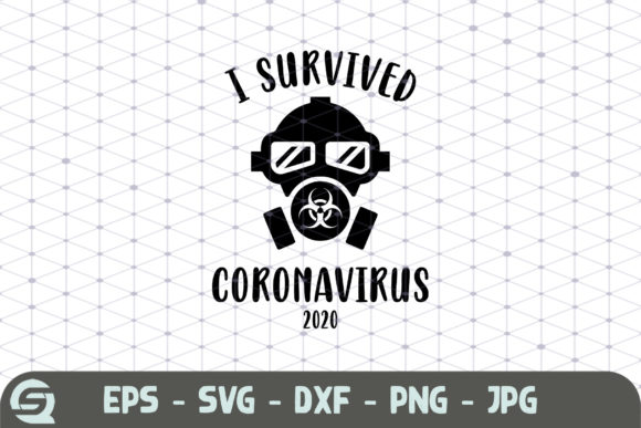 I Survived Coronavirus 2020 Mask   Graphic Crafts By Crafty Files