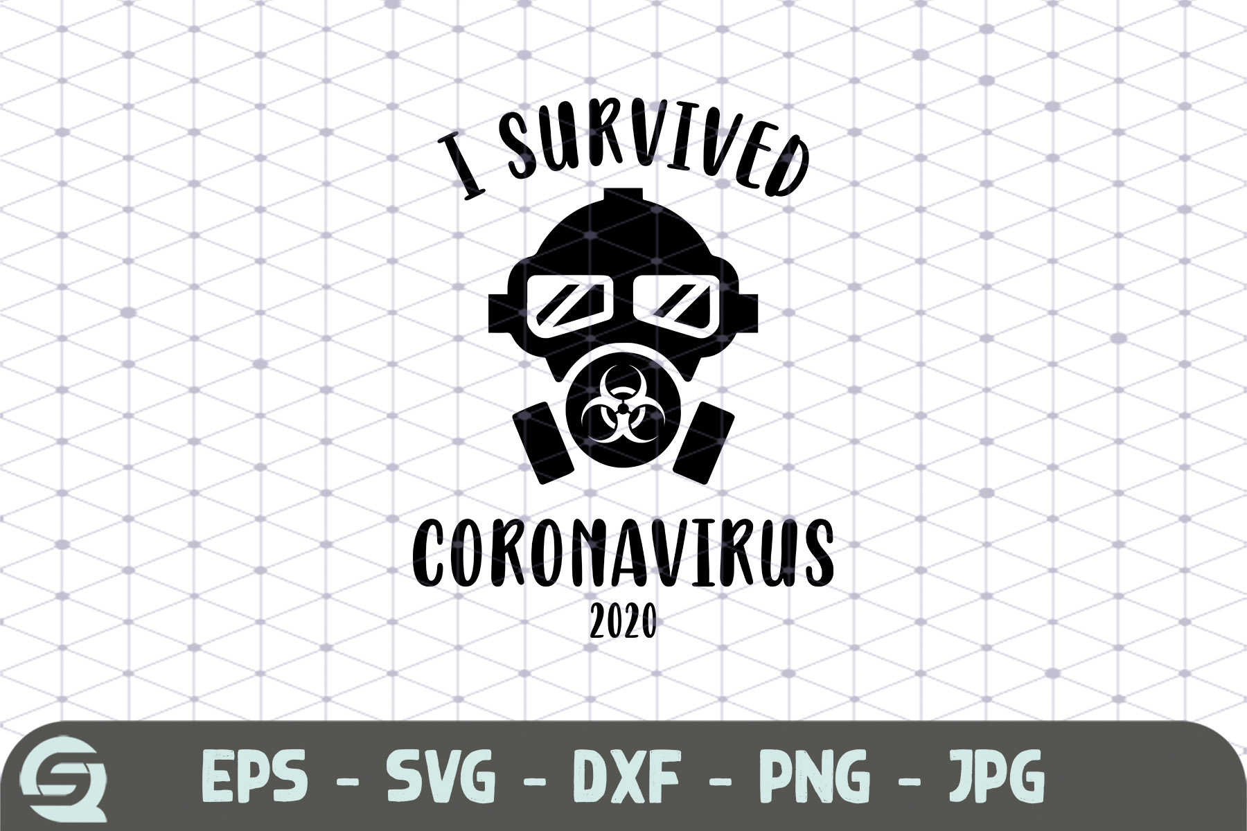 Download Free I Survived Coronavirus 2020 Mask Graphic By Crafty Files for Cricut Explore, Silhouette and other cutting machines.
