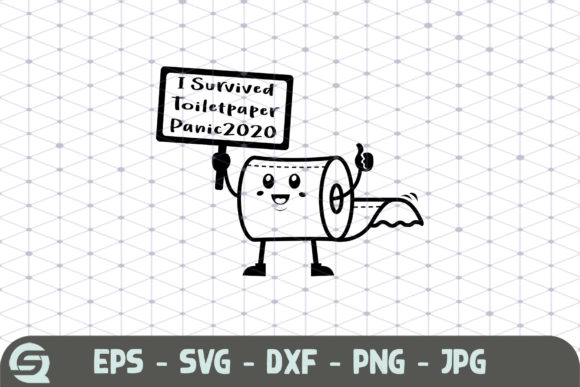 Download Free I Survived The Toilet Paper Panic 2020 Graphic By Crafty Files for Cricut Explore, Silhouette and other cutting machines.