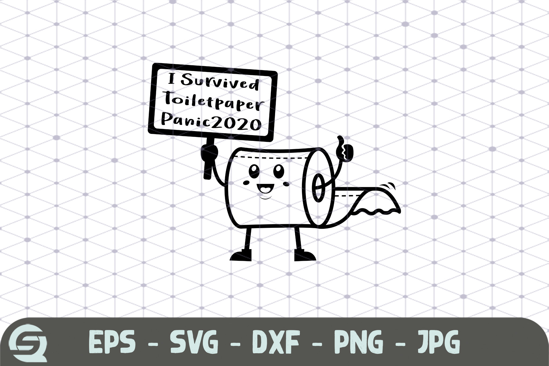Download Free I Survived The Toilet Paper Panic 2020 Grafico Por Qara Studio for Cricut Explore, Silhouette and other cutting machines.