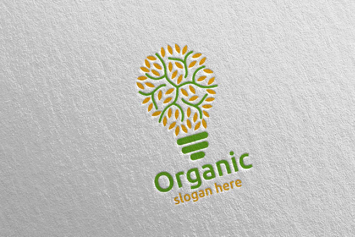 Download Free Idea Natural And Organic Logo Design 24 Graphic By Denayunecf for Cricut Explore, Silhouette and other cutting machines.