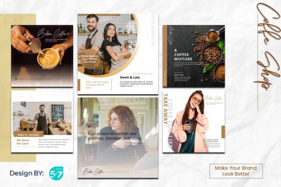 Instagram Feed - Coffee Shop Graphic Presentation Templates By 57creative