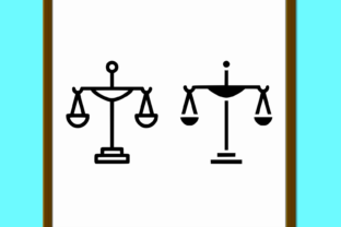 Download Free Justice Line And Glyph Icon Court And La Graphic By Anrasoft for Cricut Explore, Silhouette and other cutting machines.