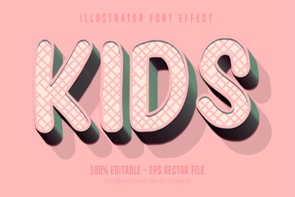 Download Free Kids Text Editable Text Style Graphic By Mustafa Beksen for Cricut Explore, Silhouette and other cutting machines.