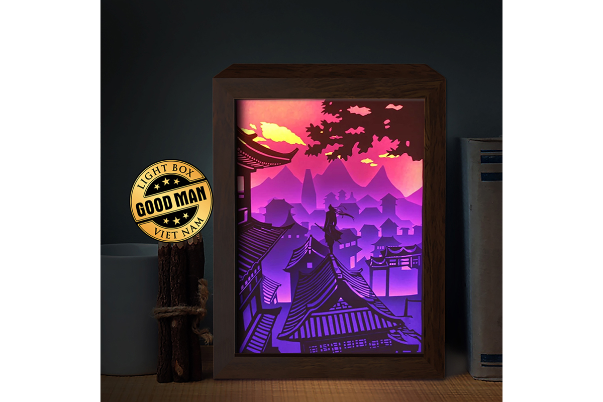 Knight Errant 3d Paper Cutting Light Box Graphic By Lightboxgoodman Creative Fabrica