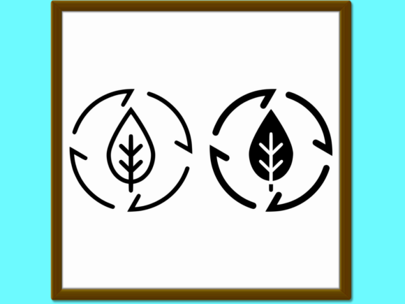 Download Free Leaf In Arrows Line And Glyph Icon Ecolo Graphic By Anrasoft for Cricut Explore, Silhouette and other cutting machines.