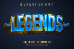 Download Free Legends Text Editable Font Effect Graphic By Mustafa Beksen for Cricut Explore, Silhouette and other cutting machines.