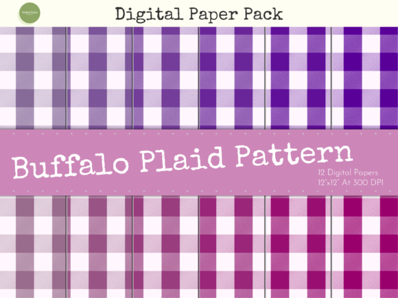 Download Free Lilac Buffalo Plaid Digital Papers Pack Graphic By Gifted Tribe SVG Cut Files