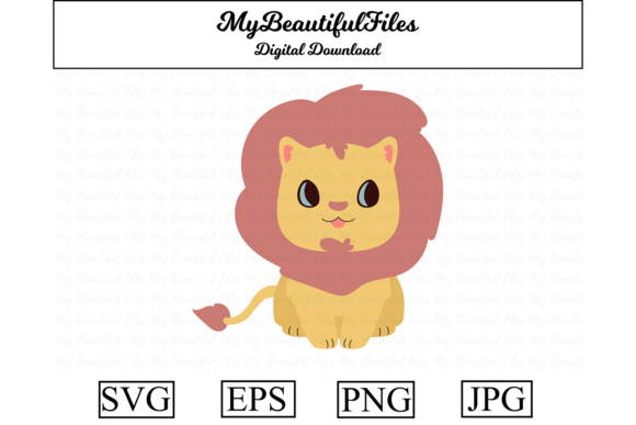 Download Free Lion Clipart Design Graphic By Mybeautifulfiles Creative Fabrica SVG Cut Files
