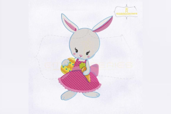 Little Miss Bunny Easter Easter Embroidery Design By RoyalEmbroideries