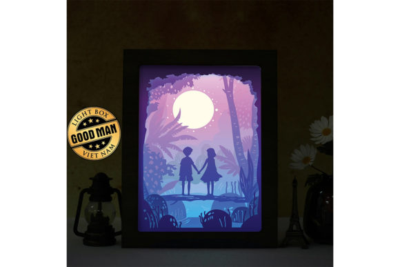 Download Free Love 6 3d Paper Cutting Light Box Graphic By Lightboxgoodman for Cricut Explore, Silhouette and other cutting machines.