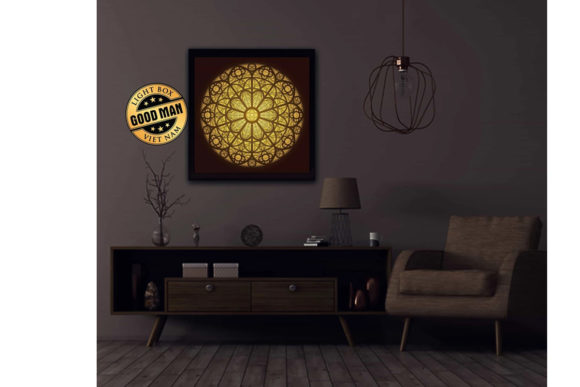 Print on Demand: Mandala 3D Paper Cutting Light Box Graphic 3D Shadow Box By LightBoxGoodMan