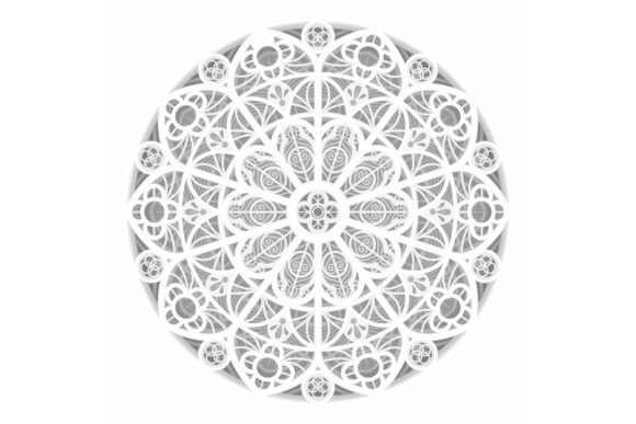 Download Free Mandala 3d Paper Cutting Light Box Graphic By Lightboxgoodman for Cricut Explore, Silhouette and other cutting machines.
