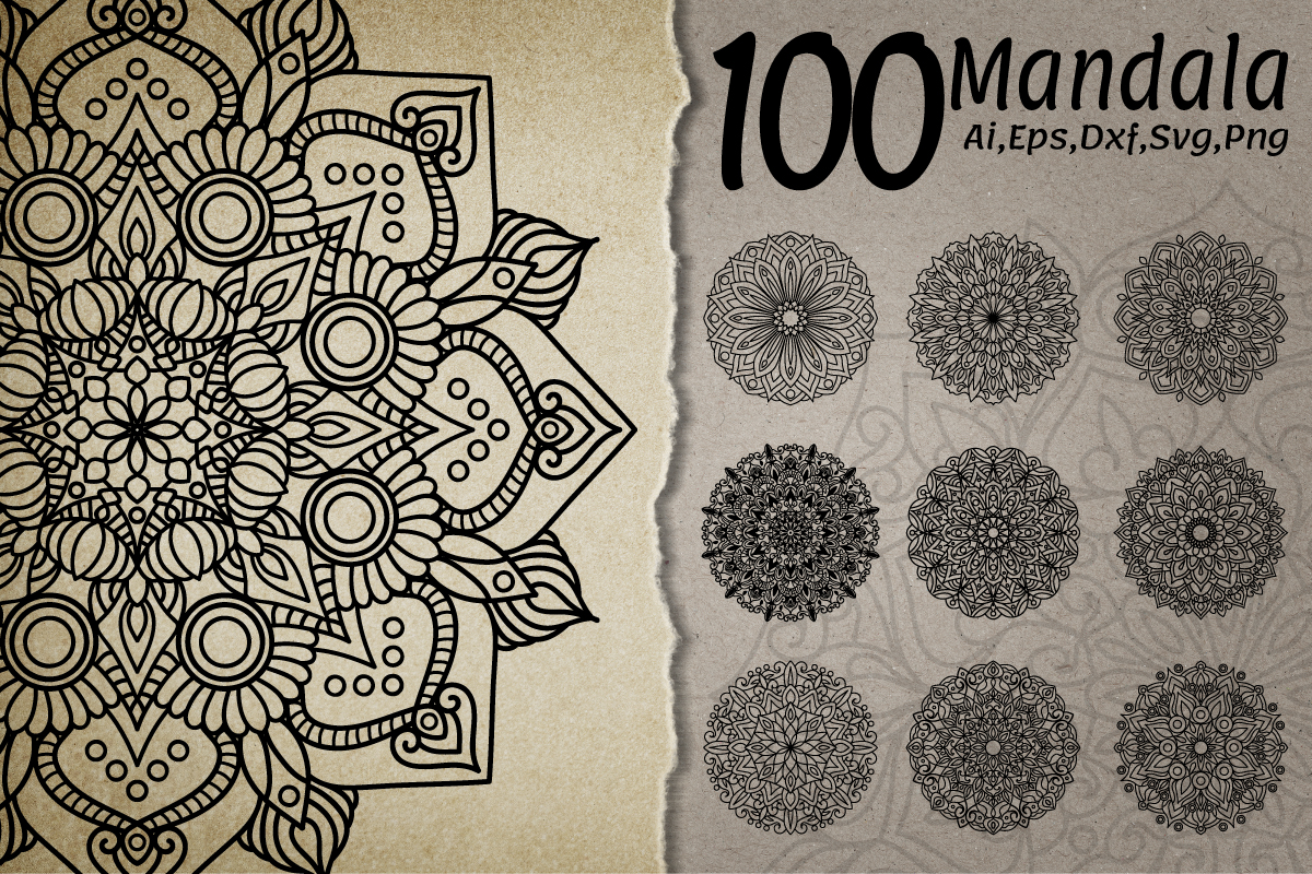 Download Free Mandala Collection Graphic By Bayu Baluwarta Creative Fabrica for Cricut Explore, Silhouette and other cutting machines.