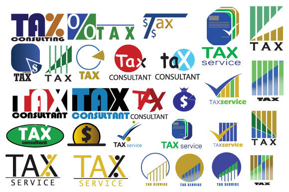 Print on Demand: Mega Bundle Logo Tax Service Finance Graphic Logos By iop_micro