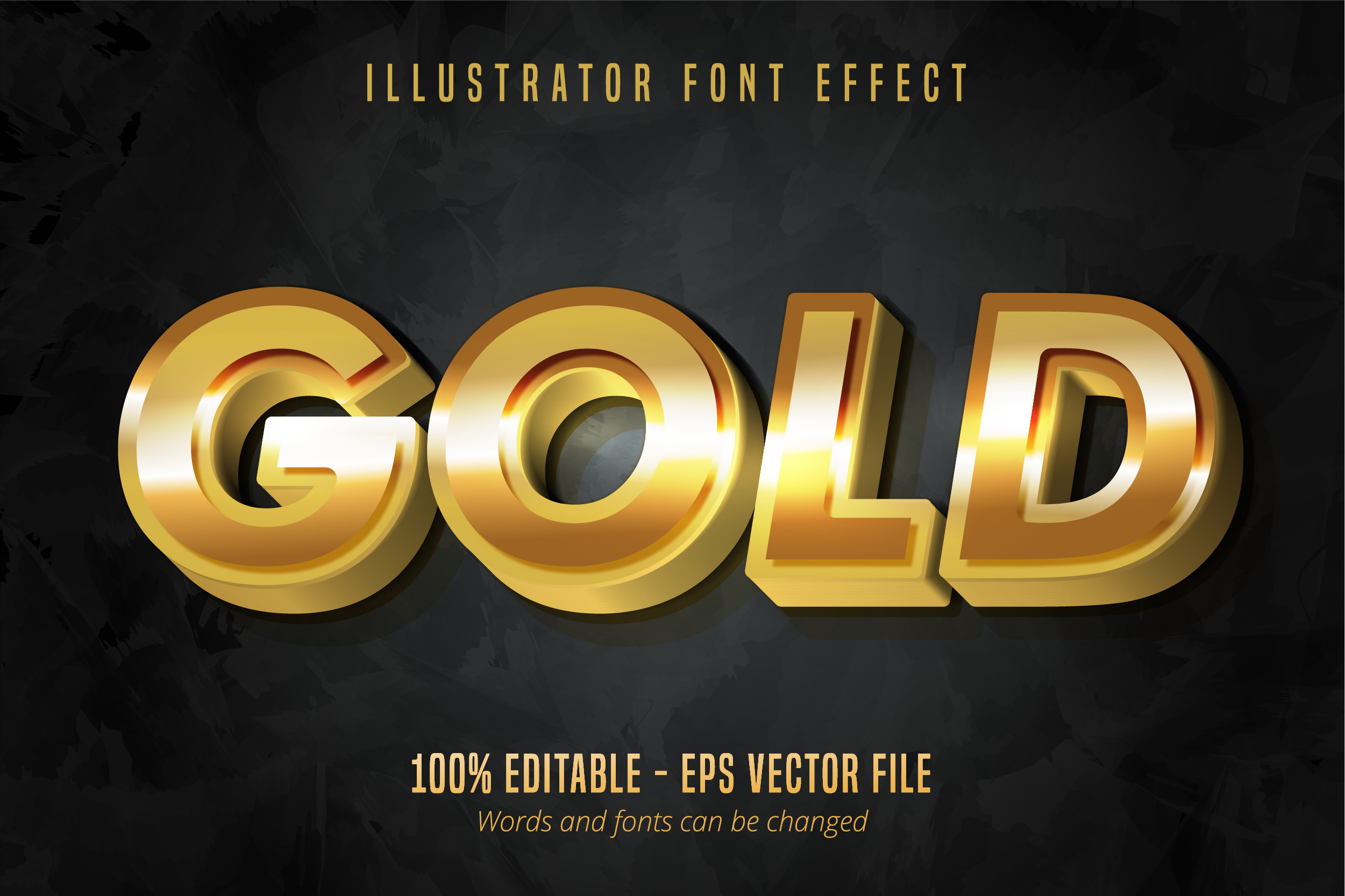Download Free Metallic Shiny Gold Text Effect Grafik Von Mustafa Beksen for Cricut Explore, Silhouette and other cutting machines.