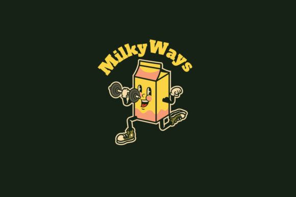 Download Free Milky Ways Logo Template Graphic By Kreasimalam Creative Fabrica for Cricut Explore, Silhouette and other cutting machines.