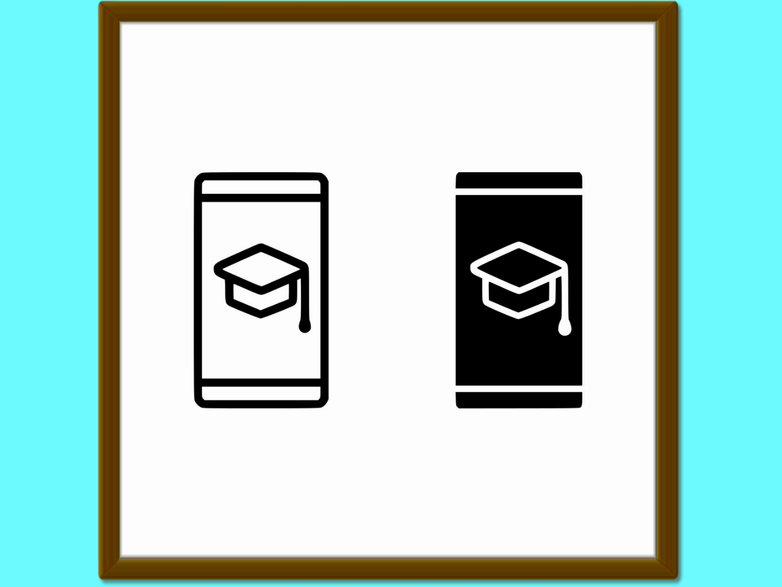 Download Free Mobile Learning Line And Glyph Icon E Le Graphic By Anrasoft for Cricut Explore, Silhouette and other cutting machines.
