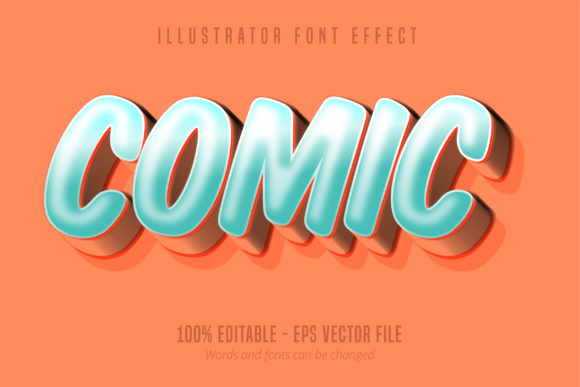 Download Free Modern Comic Script Editable Text Effect Graphic By Mustafa for Cricut Explore, Silhouette and other cutting machines.