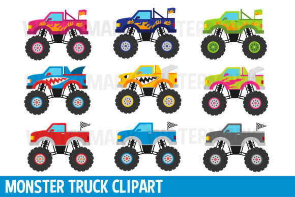 Download Free Monster Truck Clipart Graphic By Magreenhouse Creative Fabrica for Cricut Explore, Silhouette and other cutting machines.