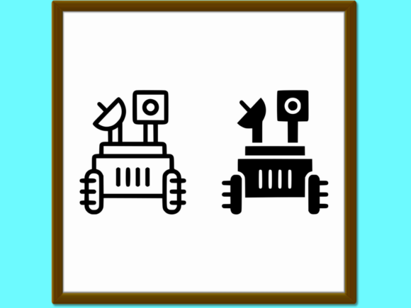 Download Free Moon Rover Line And Glyph Icon Space And Graphic By Anrasoft for Cricut Explore, Silhouette and other cutting machines.