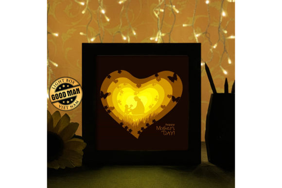 Print on Demand: Mother 1 3D Paper Cutting Light Box Graphic 3D Shadow Box By LightBoxGoodMan