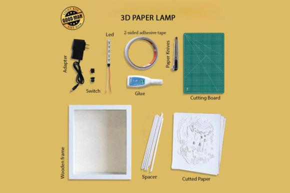 Download Free Mother 2 3d Paper Cutting Light Box Graphic By Lightboxgoodman Creative Fabrica for Cricut Explore, Silhouette and other cutting machines.