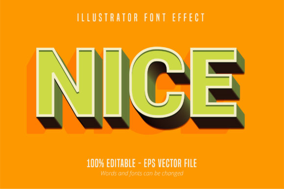 Print on Demand: Nice Text, Editable Text Style Graphic Graphic Templates By Mustafa Bekşen