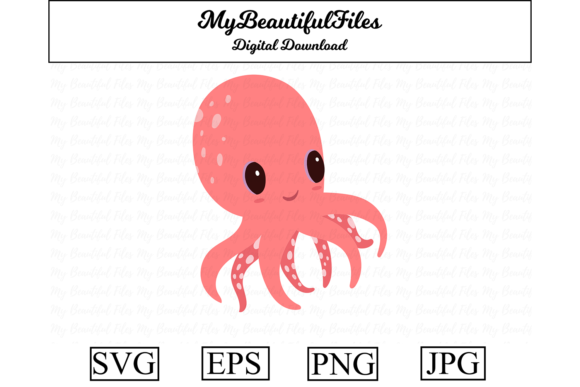 Octopus Clipart Design Graphic By Mybeautifulfiles Creative