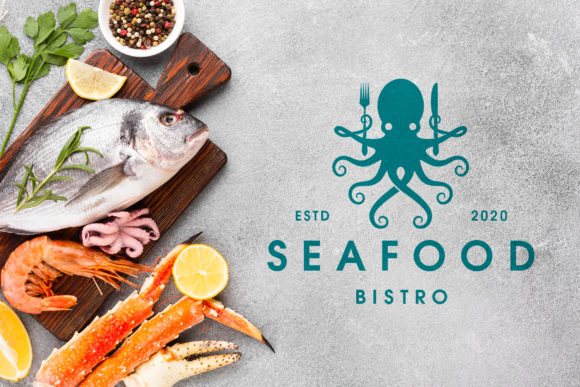Octopus Seafood Bistro Logo Template Graphic Logos By vectorwithin