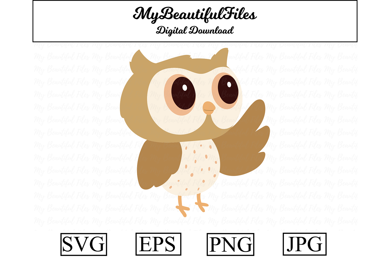 Download Free Owl Clipart Design Graphic By Mybeautifulfiles Creative Fabrica for Cricut Explore, Silhouette and other cutting machines.