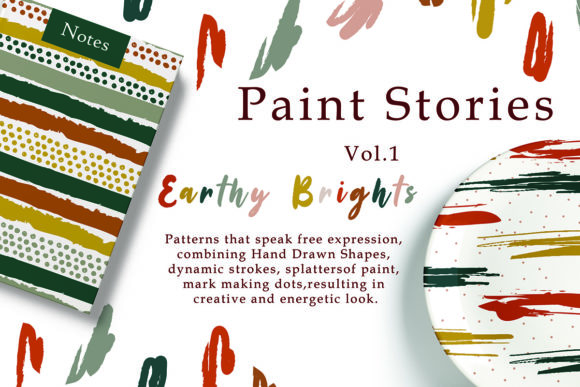 Paint Story Abstract Digital Pattern Grafik Muster von EssentiallyNomadic