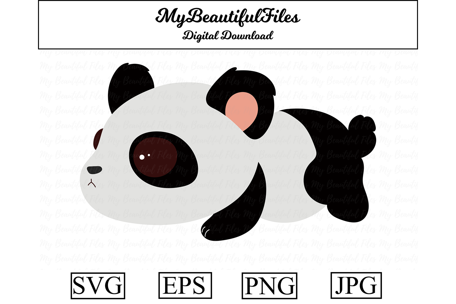 Download Free Panda Clipart Design Graphic By Mybeautifulfiles Creative Fabrica for Cricut Explore, Silhouette and other cutting machines.