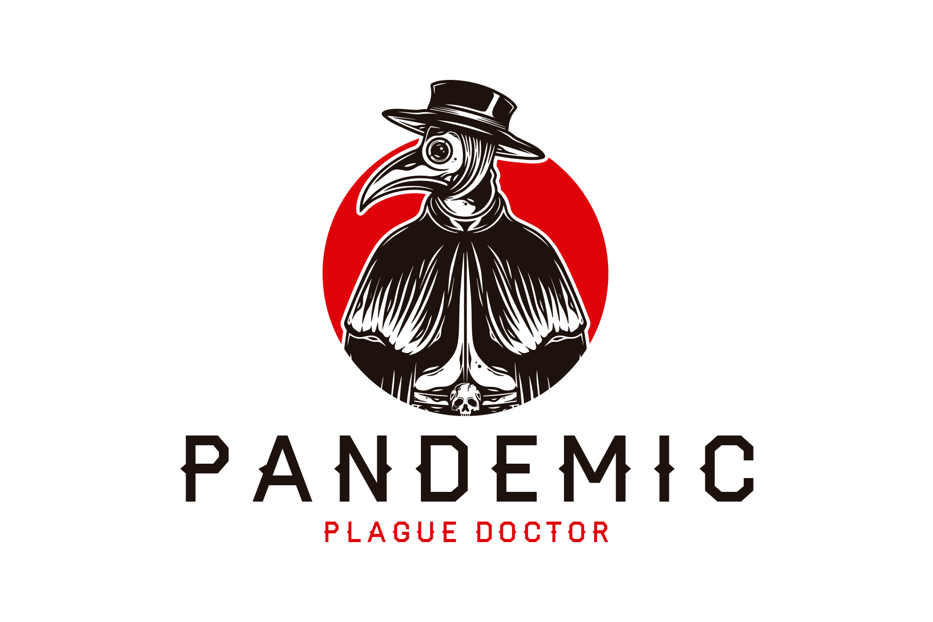 Download Free Pandemic Plague Doctor Logo Template Graphic By Vectorwithin for Cricut Explore, Silhouette and other cutting machines.