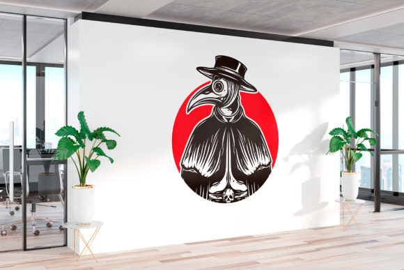 Download Free Pandemic Plague Doctor Logo Template Grafico Por Vectorwithin for Cricut Explore, Silhouette and other cutting machines.