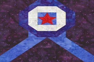 Patriotic Sampler Block 01 - Ribbon Graphic Quilt Patterns By seamstobesew