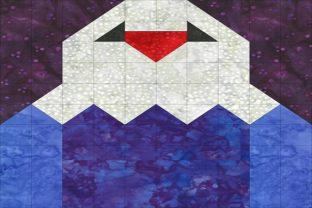 Patriotic Sampler Block 02 - Eagle Gráfico Quilt Patterns Por seamstobesew