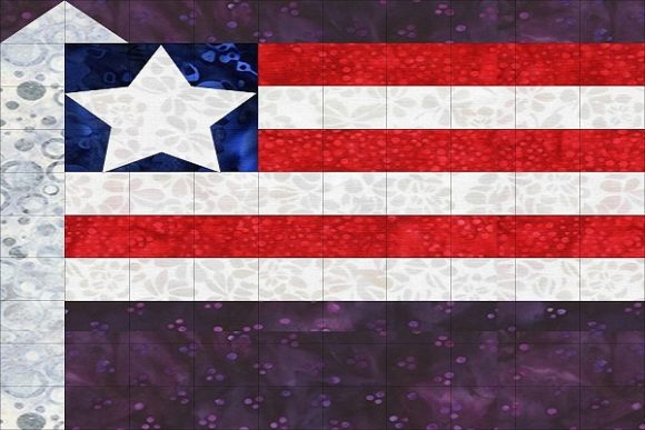 Patriotic Sampler Block 03 - Flag Graphic Quilt Patterns By seamstobesew