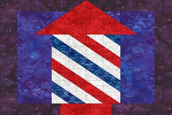 Patriotic Sampler Block 06 - Fireworks Graphic Quilt Patterns By seamstobesew - Image 1