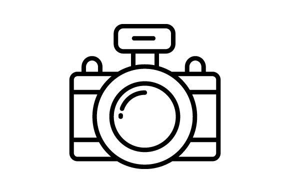 Photography Camera Thin Line Icon Graphic By Deniprianggono78