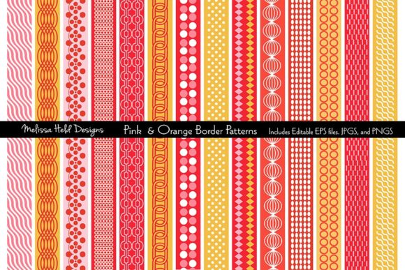 Download Free Pink Orange Mod Border Patterns Graphic By Melissa Held for Cricut Explore, Silhouette and other cutting machines.