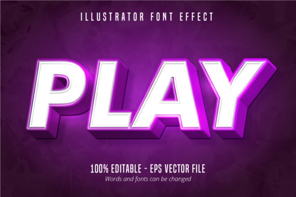Print on Demand: Play Text, Editable Text Effect Graphic Graphic Templates By Mustafa Bekşen