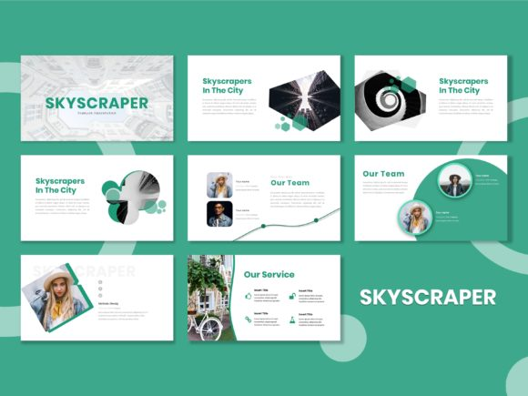 Download Free Presentation Template Skyscraper Graphic By Listulabs for Cricut Explore, Silhouette and other cutting machines.