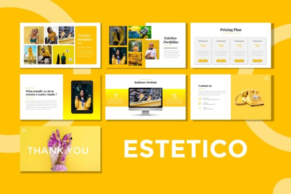 Download Free Presentation Templates Estetico Graphic By Listulabs for Cricut Explore, Silhouette and other cutting machines.