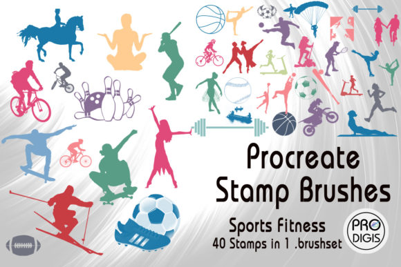 Download Free Procreate Stamp Brushes Sports Fitness Graphic By Prodigis for Cricut Explore, Silhouette and other cutting machines.
